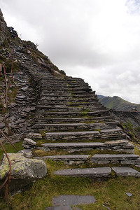 Stair way to Heaven?  other wise known as the fox's path or Llwybr Llwynog leading to the Pen Garret level