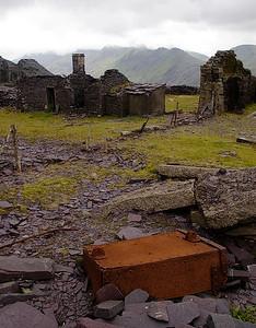 Abandoned slate rubbish waggon