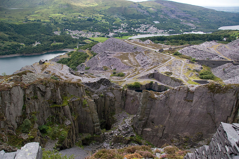 Looking from Pen Garrett level across the Morgans Quarry to the Mills