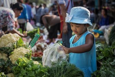 in Samut Sakhon market