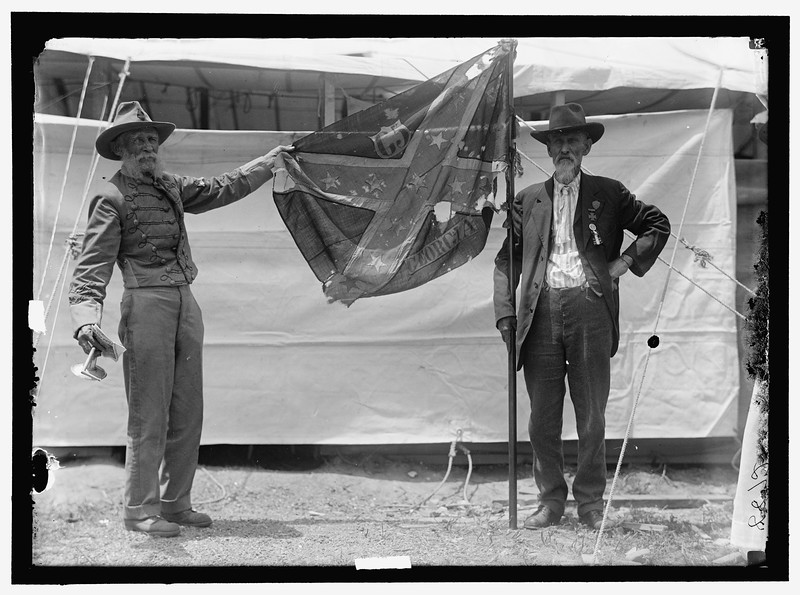 Confederate Reunion. Babble flags of war between the states, 1917. The Library Of Congress