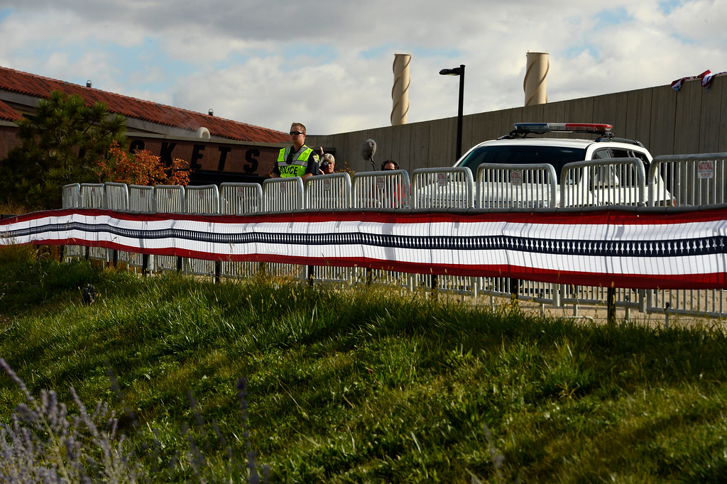 . BOULDER, CO - OCTOBER 27: Police, gates, closures and preparations are all under way for the CNBC Republican Presidential Debate at Coors Events Center on the University of Colorado campus in Boulder, Colorado on October 27, 2015.  There will be two debates between 14 different candidates.  The first debate will include Lindsey Graham Bobby Jindal, George Pataki, and Rick Santorum.  The second debate will include Jeb Bush, Ben Carson, Chris Christie, Ted Cruz, Carly Florin, Mike Huckabee, John Kasich, Rand Paul, Marco Rubio and Donald Trump. (Photo by Helen H. Richardson/The Denver Post)