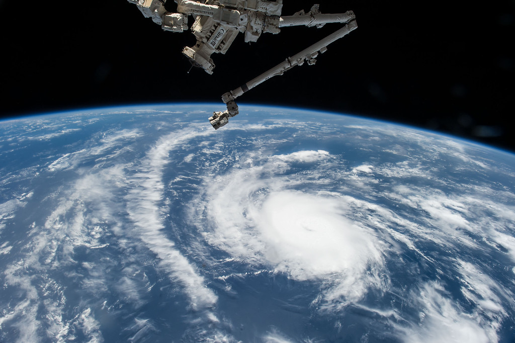 . This Aug. 20, 2015 photo made available by NASA shows Hurricane Danny as the International Space Station orbits over the central Atlantic Ocean. (Scott Kelly/NASA via AP)