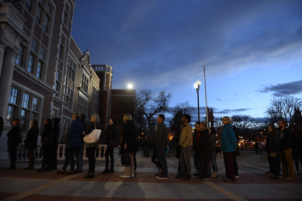 . Huge crowds turned out for the democratic caucus at East High School in Denver, Colorado on March 1, 2016.  (Photo by Helen H. Richardson/The Denver Post)