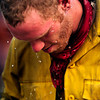 Todd Clites, of the PatRick fire crew in Boise, douses his head with water at the High Park Fire Incident Command Post at the National Guard Armory in Fort Collins on Tuesday, June19, 2012. AAron Ontiveroz, The Denver Post