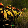 Firefighters makes their way up to the Hewlett Gulch Fire, Tuesday, May 15, 2012, in the Poudre Canyon near Fort Collins. RJ Sangosti, The Denver Post