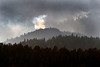 The Fern Lake Fire burns in Rocky Mountain National Park on December 2, 2012.<br /> The Fern Lake Fire, which has been burning in Rocky Mountain National Park since October, kicked up yesterday and forced the evacuation of hundreds of homes west of the fire.<br /> Helen H. Richardson, The Denver Post
