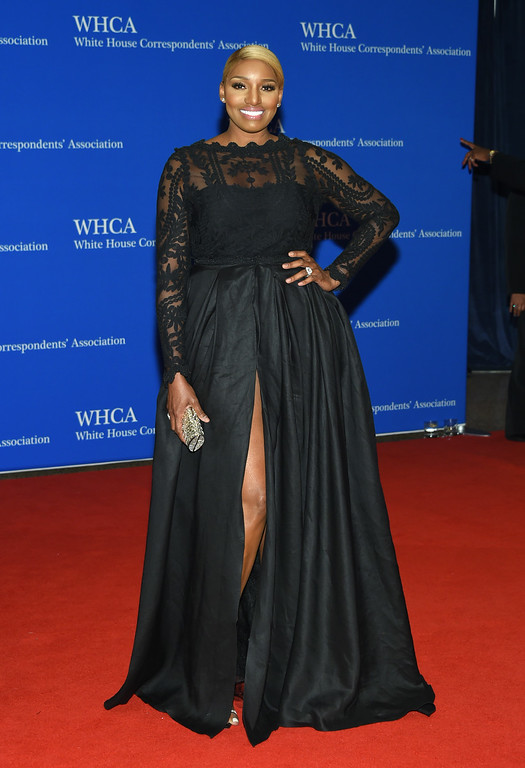 . NeNe Leakes arrives at the White House Correspondents\' Association Dinner at the Washington Hilton Hotel on Saturday, April 30, 2016, in Washington. (Photo by Evan Agostini/Invision/AP)