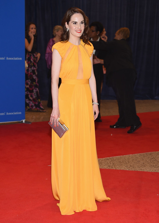 . Actress Michelle Dockery attends the 102nd White House Correspondents\' Association Dinner on April 30, 2016 in Washington, DC.  (Photo by Larry Busacca/Getty Images)