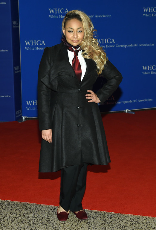 . Raven-Symone arrives at the White House Correspondents\' Association Dinner at the Washington Hilton Hotel on Saturday, April 30, 2016, in Washington. (Photo by Evan Agostini/Invision/AP)