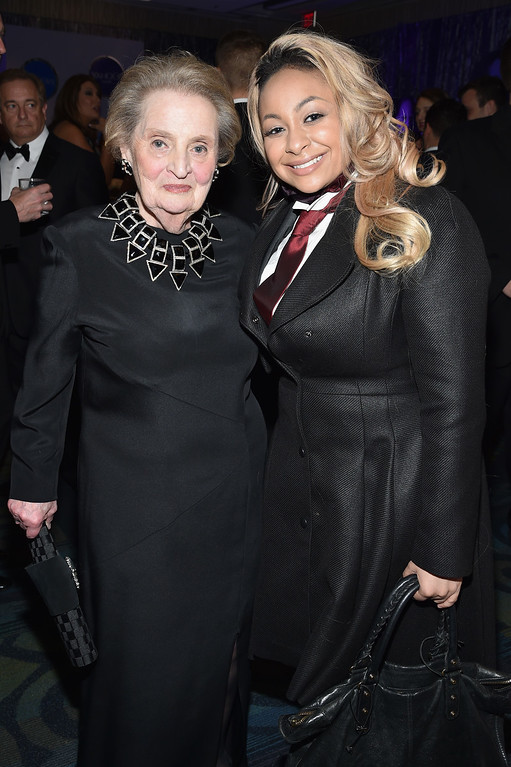 . Former United States Secretary of State Madeleine Albright (L) and Raven-Symoné attend the Yahoo News/ABC News White House Correspondents\' Dinner Pre-Party at Washington Hilton on April 30, 2016 in Washington, DC.  (Photo by Dimitrios Kambouris/Getty Images for Yahoo)