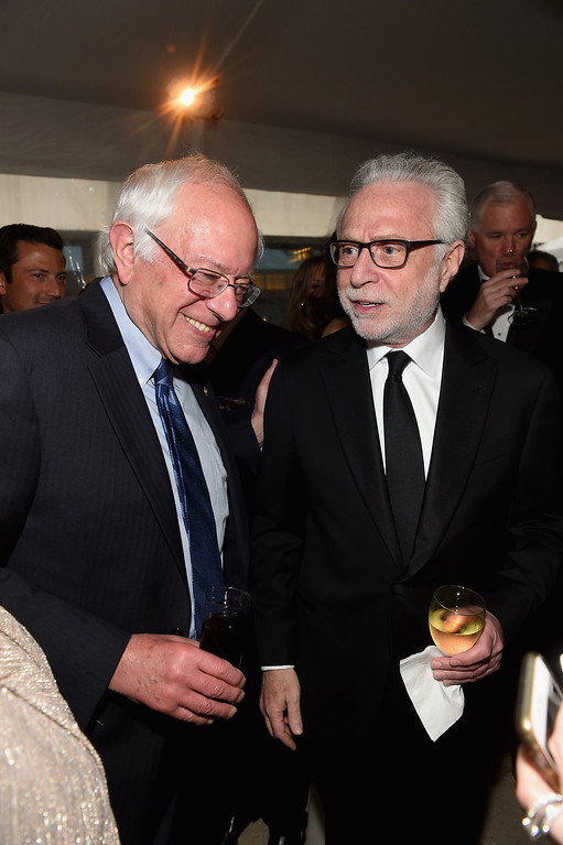 . Senator Bernie Sanders and journalist Wolf Blitzer attend the Atlantic Media\'s 2016 White House Correspondents\' Association Pre-Dinner Reception at Washington Hilton on April 30, 2016 in Washington, DC.  (Photo by Jamie McCarthy/Getty Images)
