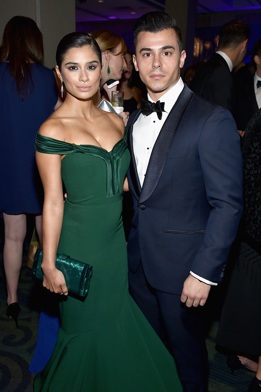. Actress Diane Guerrero (L) and Joseph Ferrara attend the Yahoo News/ABC News White House Correspondents\' Dinner Pre-Party at Washington Hilton on April 30, 2016 in Washington, DC.  (Photo by Dimitrios Kambouris/Getty Images for Yahoo)