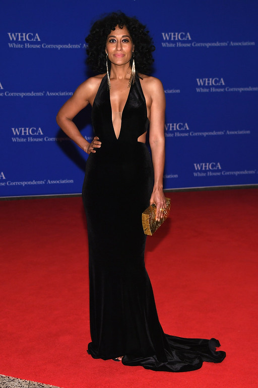 . Actress Tracee Ellis Ross attends the 102nd White House Correspondents\' Association Dinner on April 30, 2016 in Washington, DC.  (Photo by Larry Busacca/Getty Images)