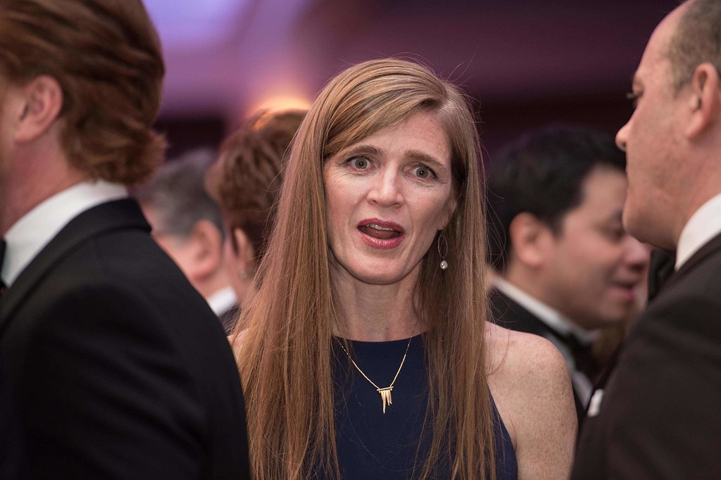 . US Ambassador to the United Nations Samantha Power attends the 102nd White House Correspondents\' Association Dinner in Washington, DC, on April 30, 2016. / AFP PHOTO / NICHOLAS KAMM/AFP/Getty Images