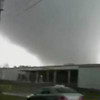 In this image made from video and released by WSB TV in Atlanta, a tornado moves through the town of Adairsville, Ga. on Wednesday, January30, 2013. (AP Photo/WSB TV)