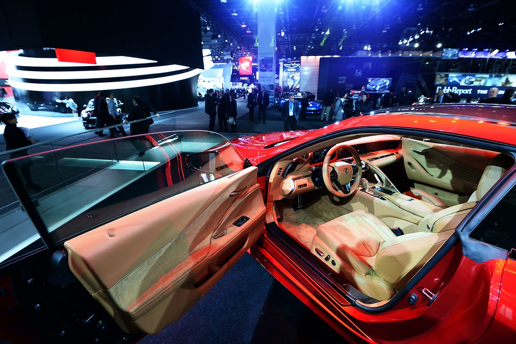 . The interior of the Lexus LS500 is pictured during the press preview of the 2016 North American International Auto Show in Detroit, Michigan, on January 12, 2016. AFP PHOTO/JEWEL SAMAD/AFP/Getty Images