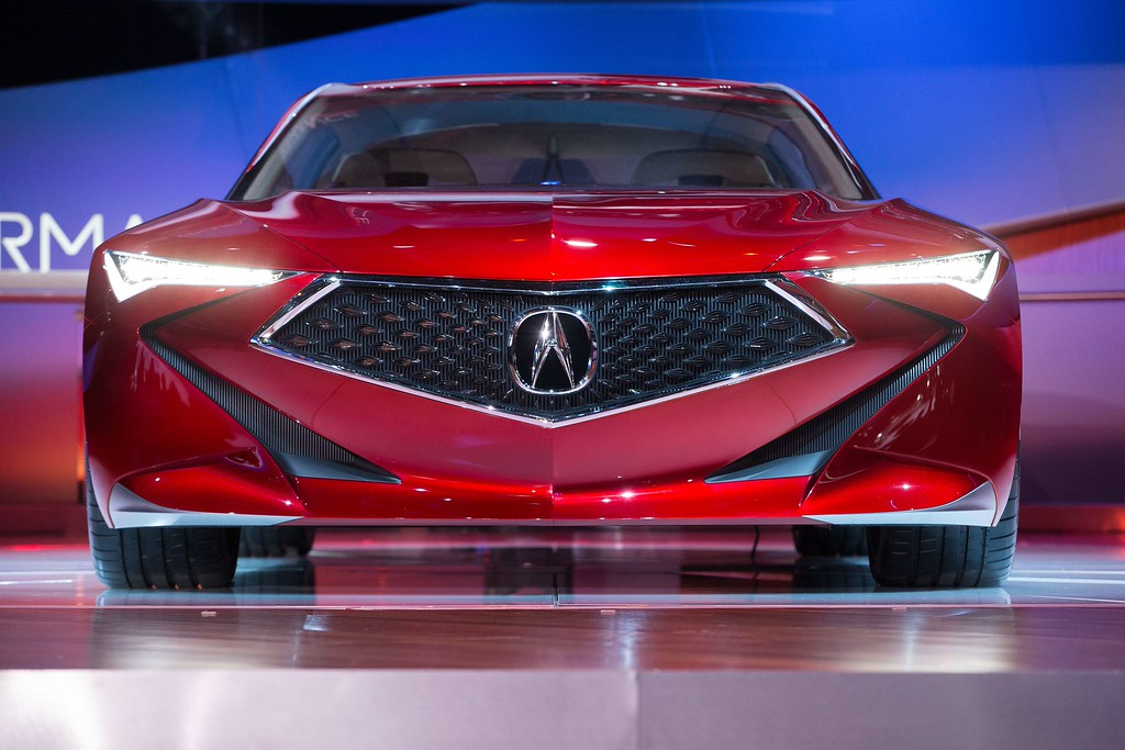 . Acura unveils its new Precision Concept at their press conference at the 2016 North American International Auto Show in Detroit, Michigan, January  12, 2016. AFP PHOTO/Geoff  ROBINS/AFP/Getty Images