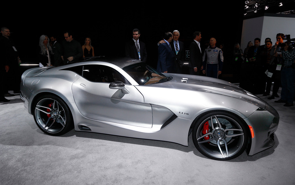 . The VLF Force 1 debuts at the North American International Auto Show in Detroit, Tuesday, Jan. 12, 2016. (AP Photo/Paul Sancya)