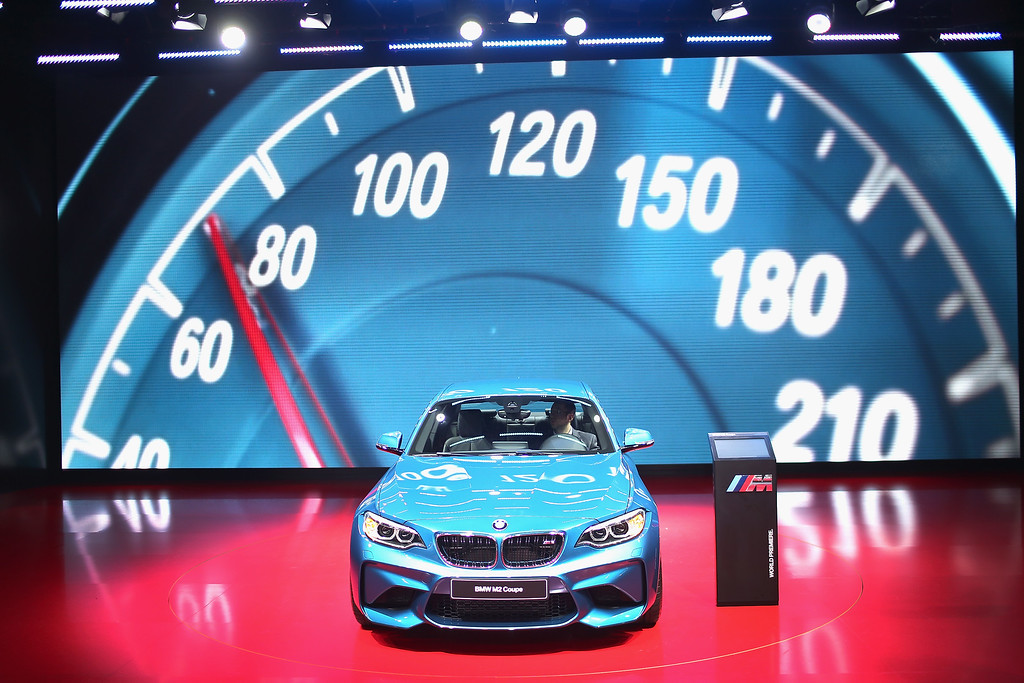 . BMW shows off the new M2 Coupe at the North American International Auto Show on January 12, 2016 in Detroit, Michigan. The show is open to the public from January 16-24.  (Photo by Scott Olson/Getty Images)
