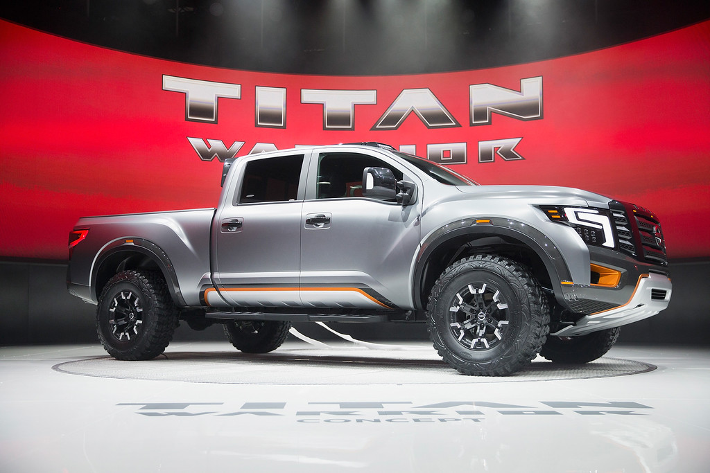 . Nissan introduces the Titan Warrior concept pickup truck at the North American International Auto Show on January 11, 2016 in Detroit, Michigan. The show is open to the public from January 16-24.  (Photo by Scott Olson/Getty Images)