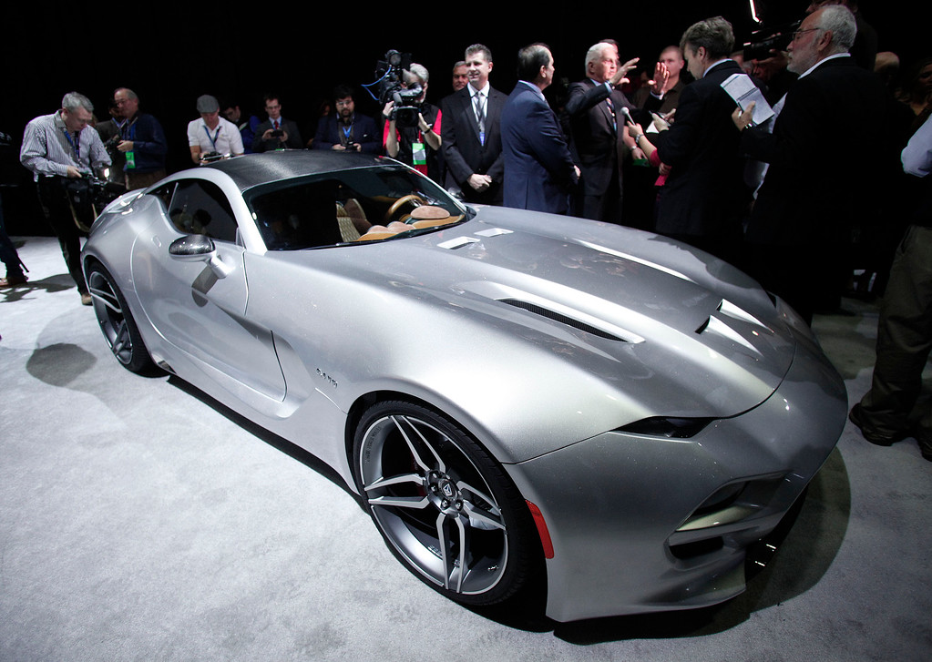 . The Fisker Force 1 sports car is revealed to the news media at the 2016 North American International Auto Show January 12th, 2016 in Detroit, Michigan. The body of the Force 1 is all carbon fiber, and the limited edition vehicle will be priced just under $300,000. The NAIAS runs from January 11th to January 24th and will feature over 750 vehicles and interactive displays.  (Photo by Bill Pugliano/Getty Images)