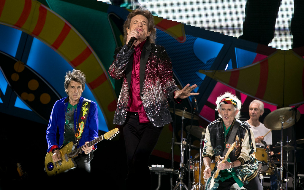 . The Rolling Stones perform in Havana, Cuba, Friday, March 25, 2016. The Stones are performing in a free concert in Havana Friday, becoming the most famous act to play Cuba since its 1959 revolution.(AP Photo/Enric Marti)