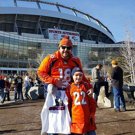 . MY SON TYSON\'S FIRST BRONCO GAME WAS AWESOME. (Submitted by THOMAS ROSENAU)