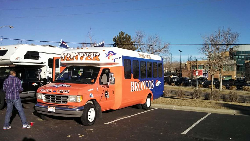 . Broncos tailgating bus. (Submitted by Dennis Segura)