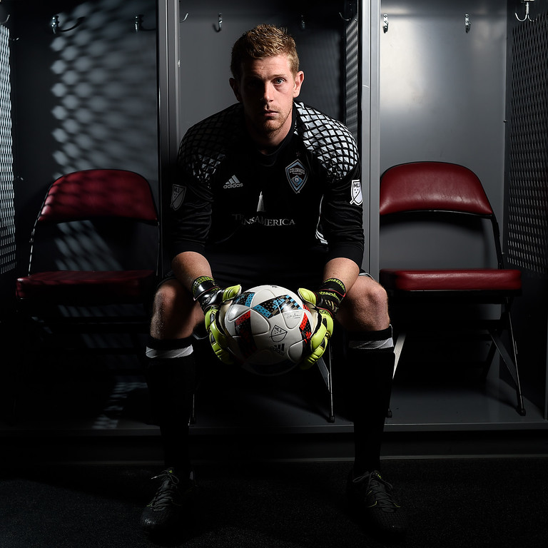 . COMMERCE CITY, CO - FEBRUARY 11: Zac MacMath poses for a portrait during Colorado Rapids media day on Thursday, February 11, 2016. (Photo by AAron Ontiveroz/The Denver Post)