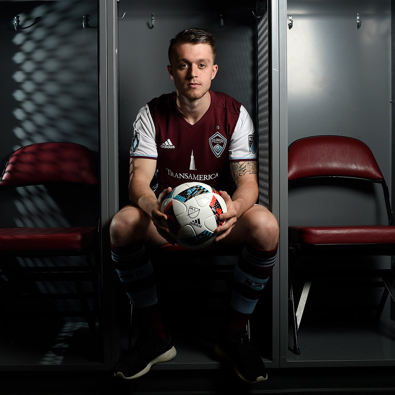 . COMMERCE CITY, CO - FEBRUARY 11: Brad Spencer poses for a portrait during Colorado Rapids media day on Thursday, February 11, 2016. (Photo by AAron Ontiveroz/The Denver Post)