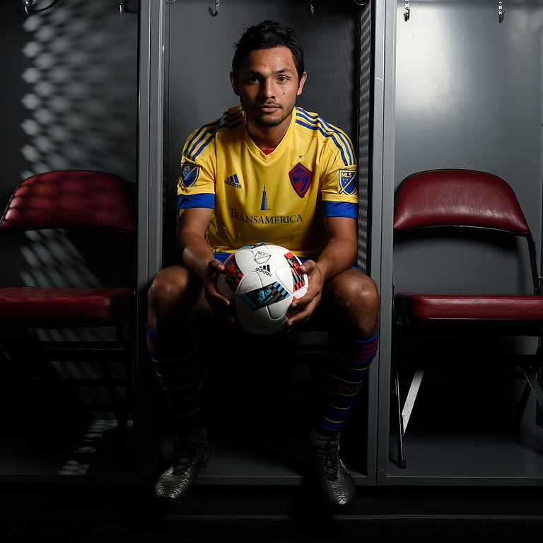 . COMMERCE CITY, CO - FEBRUARY 11: Dennis Castillo poses for a portrait during Colorado Rapids media day on Thursday, February 11, 2016. (Photo by AAron Ontiveroz/The Denver Post)