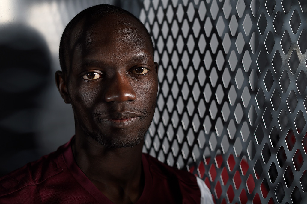 . COMMERCE CITY, CO - FEBRUARY 11: Michael Azira poses for a portrait during Colorado Rapids media day on Thursday, February 11, 2016. (Photo by AAron Ontiveroz/The Denver Post)
