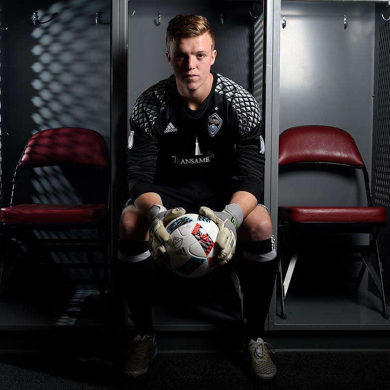 . COMMERCE CITY, CO - FEBRUARY 11: Chris Froschauer poses for a portrait during Colorado Rapids media day on Thursday, February 11, 2016. (Photo by AAron Ontiveroz/The Denver Post)