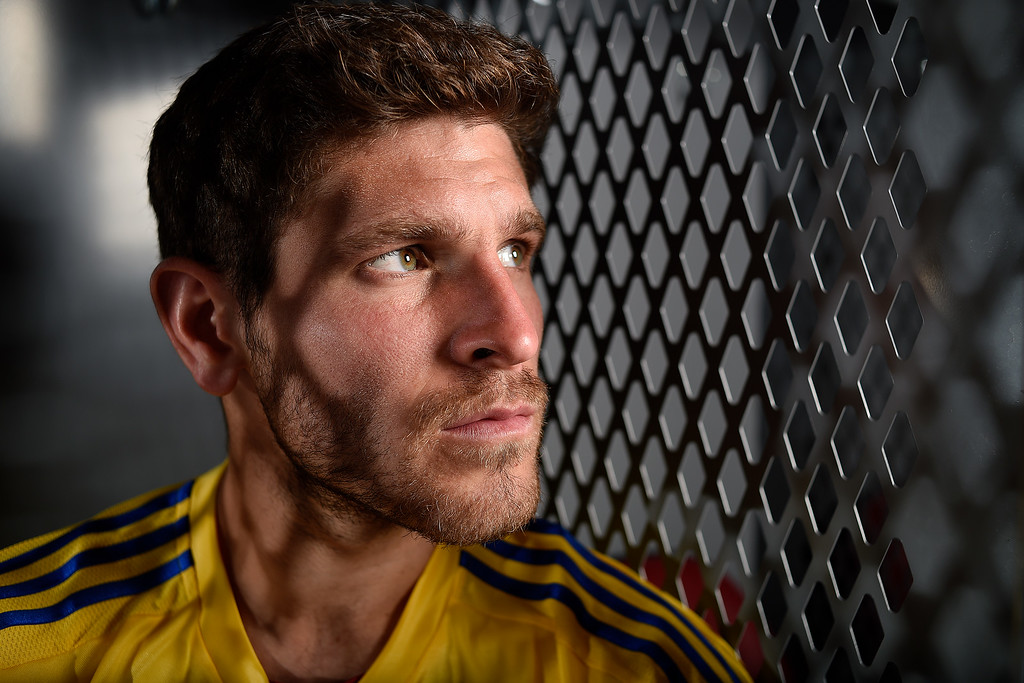 . COMMERCE CITY, CO - FEBRUARY 11: Dillon Powers poses for a portrait during Colorado Rapids media day on Thursday, February 11, 2016. (Photo by AAron Ontiveroz/The Denver Post)