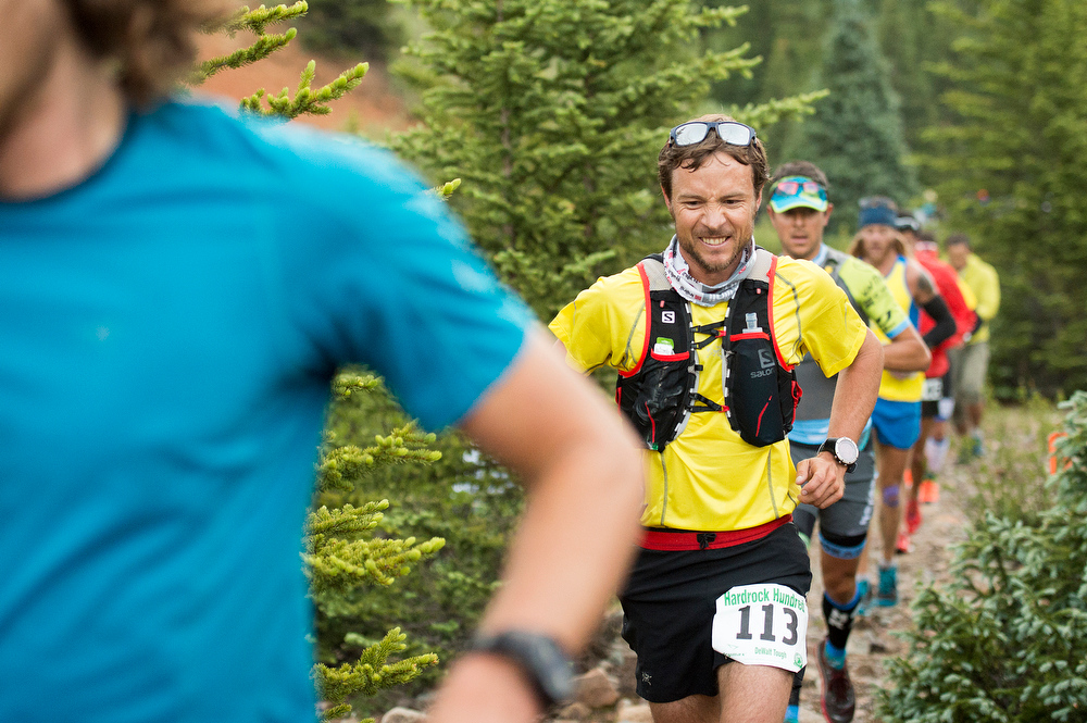 . Adam Campbell 3113 races near mile two before the crossing at Mineral Creek during the 100.5-mile Hardrock 100 Endurance Run on July 11, 2014, in the San Juan Mountains near Silverton, Colorado. (Photo by Daniel Petty/The Denver Post)
