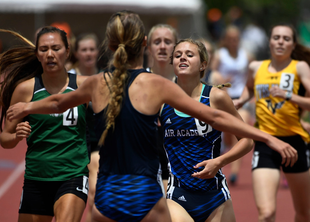 . LAKEWOOD, CO - May 20: Colorado State High School Track and Field Championships at Jeffco Stadium May 20, 2016. (Photo by Andy Cross/The Denver Post)