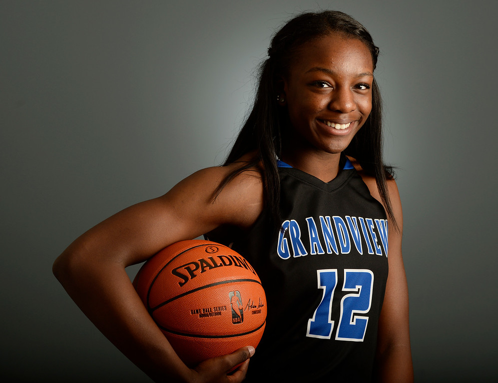 . Michaela Onyenwere of Grandview for the Colorado All-State basketball team  at The Denver Post on Wednesday, March 30, 2016.  (Photo by Cyrus McCrimmon/ The Denver Post)