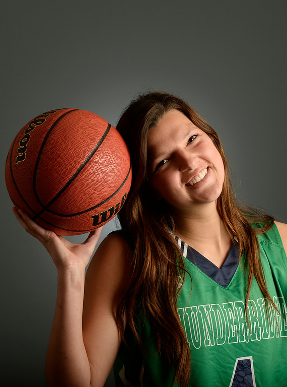 . The  Colorado All-State basketball teams for boys and girls at The Denver Post on Wednesday, March 30, 2016. Taylor Rusk, of ThunderRidge a senior. (Photo by Cyrus McCrimmon/ The Denver Post)