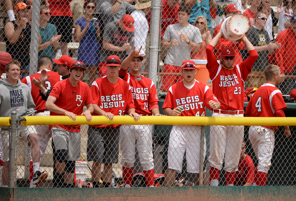 . Rocky Mountain High School Regis Jesuit High School at All City Stadium. Denver, Colorado. May 24. 2014. Rocky Mountain High School won the 5A state championship game by 6-5. (Photo by Hyoung Chang/The Denver Post)