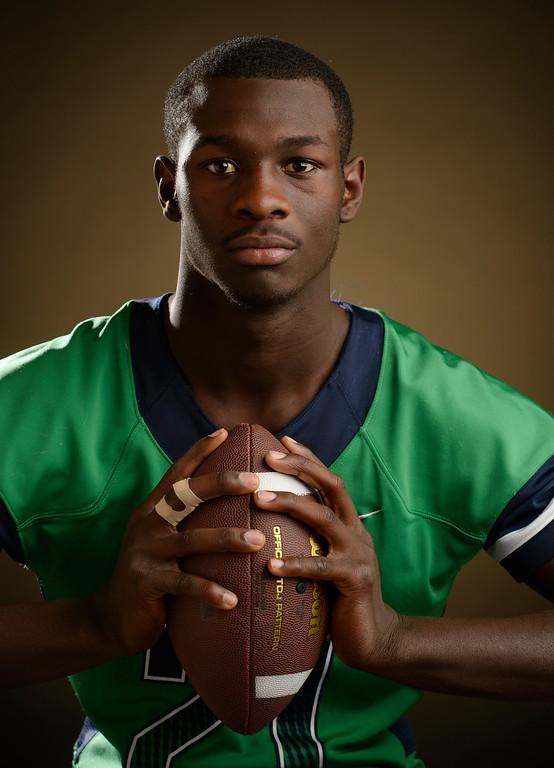 . DB Alijah Halliburton  a senior at  Overland High School for The Denver Post 2015 All-Colorado High School Football Team on Tuesday, December 15, 2015. (Photo by Cyrus McCrimmon/The Denver Post)