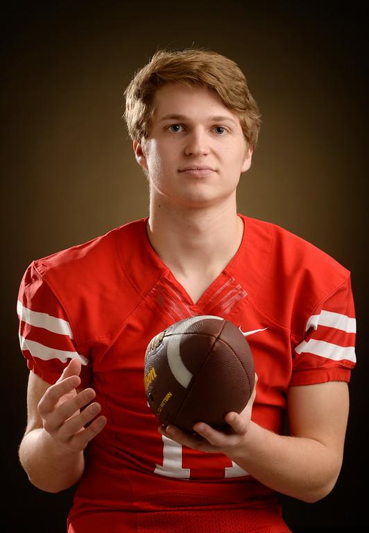 . P Michael Pavlakovich, senior at Regis Jesuit High School for The Denver Post  2015 All-Colorado High School Football Team  on Wednesday, December 16, 2015. (Photo by Cyrus McCrimmon/The Denver Post)
