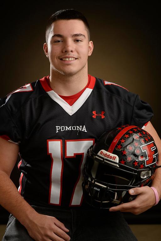 . DL Elijah Leyva  a senior at Pomona High School for The Denver Post 2015 All-Colorado High School Football Team  on Tuesday, December 15, 2015. (Photo by Cyrus McCrimmon/The Denver Post)