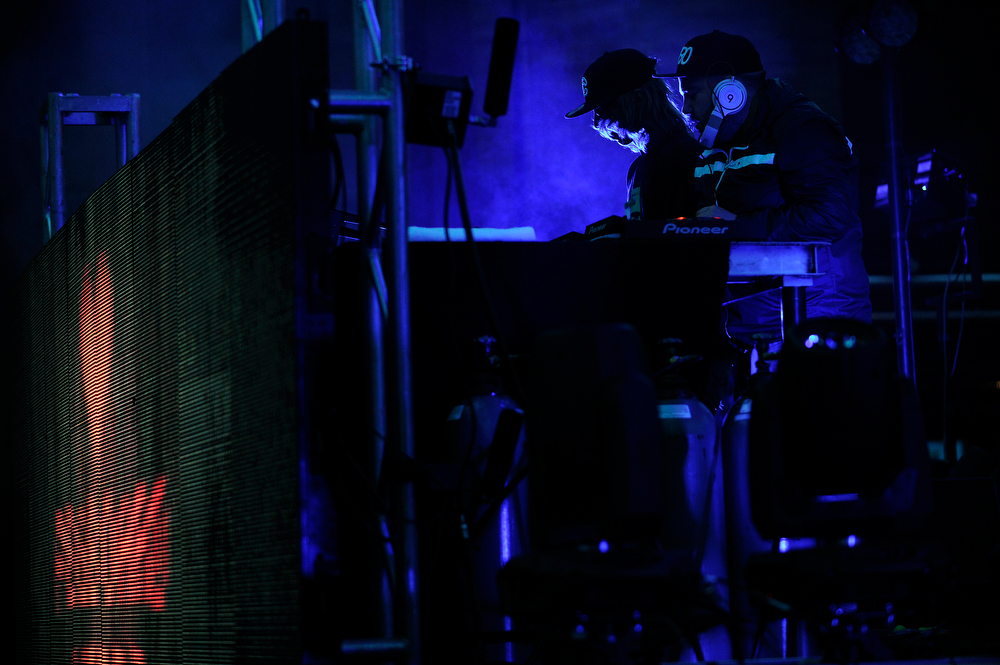 . Pegboard Nerds performs during the Global Dub Festival at Red Rocks Amphitheatre on May 16, 2014 in Morrison, Colorado. (Photo by Seth McConnell/The Denver Post)