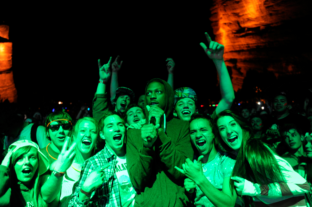. Crizzly performs during the Global Dub Festival at Red Rocks Amphitheatre on May 16, 2014 in Morrison, Colorado. (Photo by Seth McConnell/The Denver Post)
