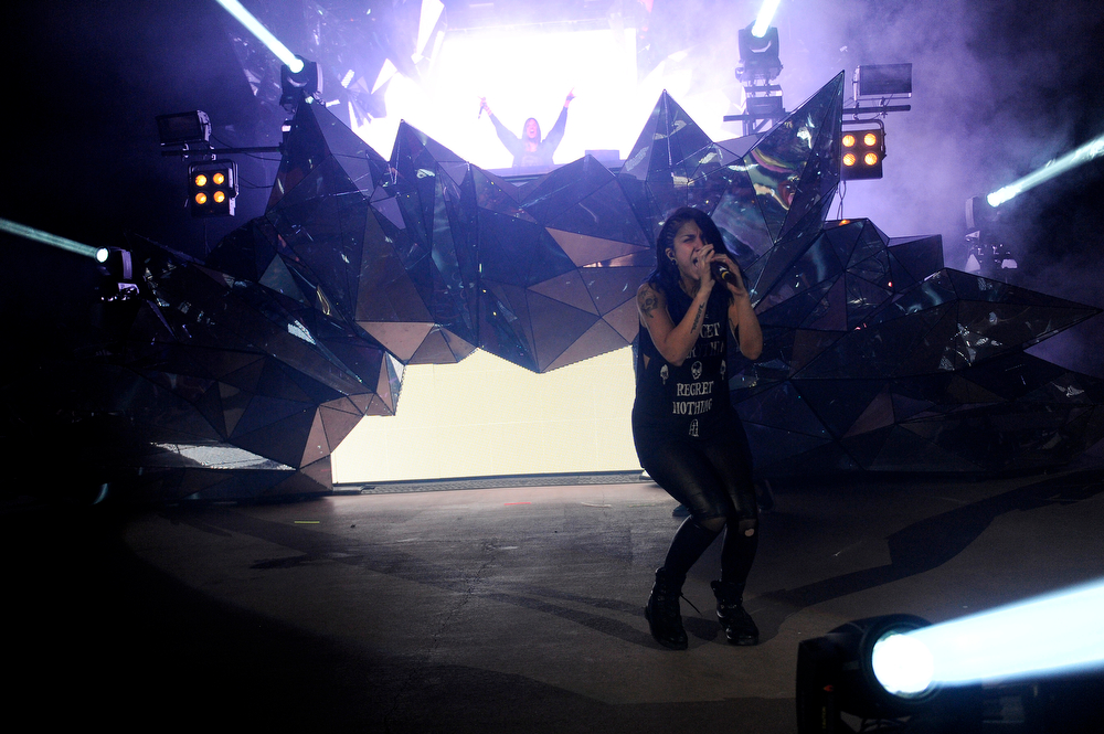 . Krewella during the Global Dub Festival at Red Rocks Amphitheatre on May 16, 2014 in Morrison, Colorado. (Photo by Seth McConnell/The Denver Post)