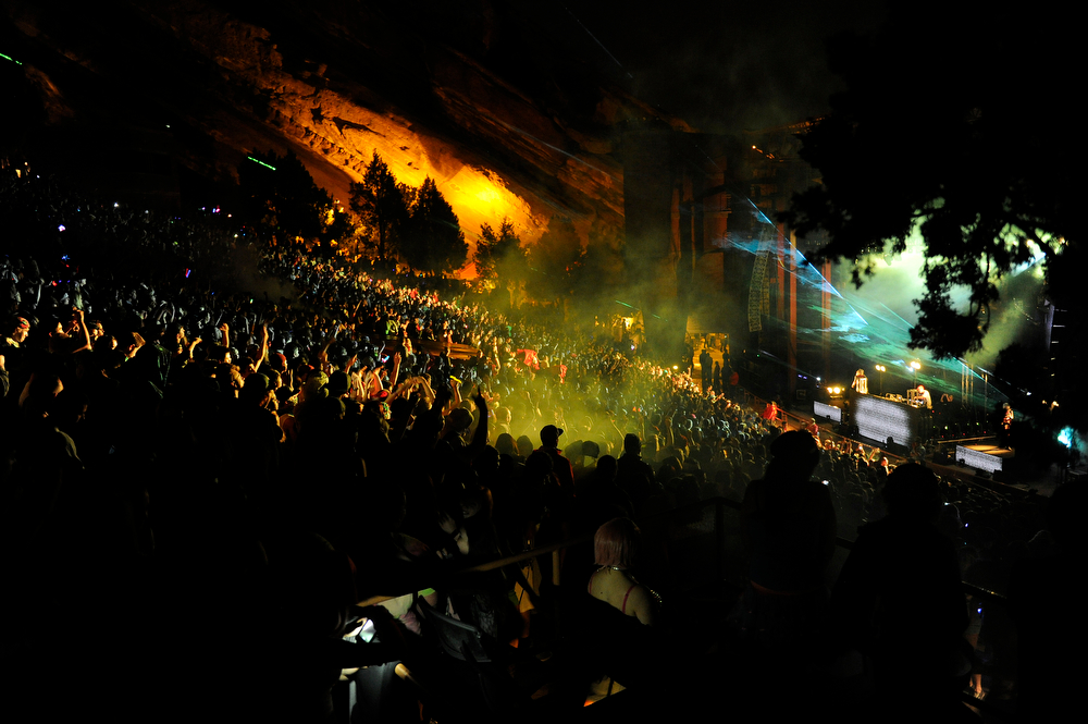 . Datsik performs during the Global Dub Festival at Red Rocks Amphitheatre on May 16, 2014 in Morrison, Colorado. (Photo by Seth McConnell/The Denver Post)