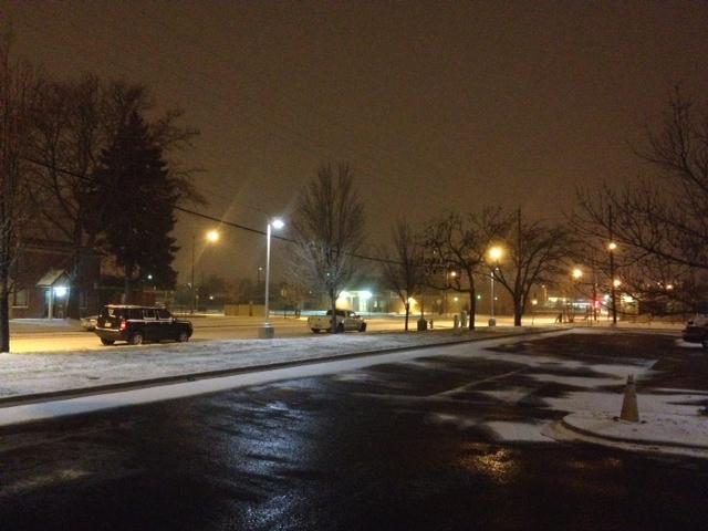 . Snow falls near West 46th Avenue and Pecos Street on Denver\'s northwest side, December 4, 2013. Sadie Gurman, The Denver Post