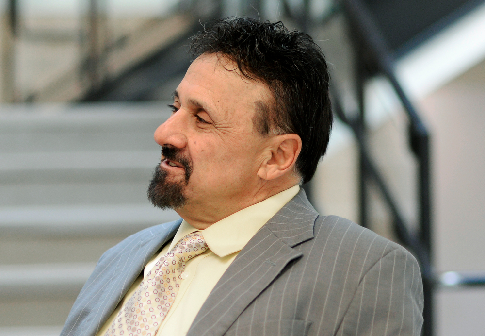 . Columbine High School Principal Frank DeAngelis plans to retire at the end of the school year, Wednesday, April 16, 2014. DeAngelis takes time during his day to visit classrooms. (Photo by RJ Sangosti/The Denver Post)