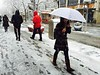 Pedestrians make their way along 16th Street in Denver Wednesday Morning, March 23, 2016. (Photo by Ken Lyons/The Denver Post)
